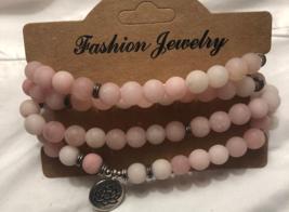 Faux Rose-Quartz Quadruple Strand Prayer Bracelet - $15.00