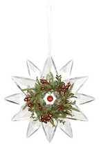 "Ganz 9"" Jewel Snowflake Hanging Window Christmas Ornament with Mistletoe and Ber - $32.99"