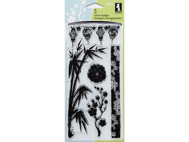 Inkadinkado Asian by Design Clear Cling Stamp Set #98606