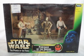 Star Wars Power of the Force POTF Purchase Of The Droids w/Lars , Luke &... - $9.89