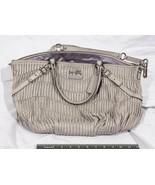 Coach Gray Satchel Handbag Shoulder Purse tthc - $216.15