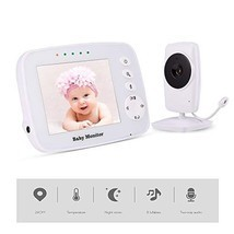 "MEIWU Baby Monitor, 3.2"" Baby Video Monitor with Camera and Audio LCD ScreenSupp - $233.00 CAD"