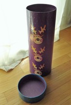 Wine Bottle Christmas Gift Tube Box, large gift wrap purple blue Reindeer - $17.82