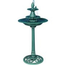 Garden Water Fountain and Birdbath 40 inches Tall Elegant Relaxing Decor... - $66.99