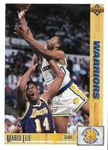1991-92 Upper Deck-#396--Mario Elie-Warriors-Guard - $3.96
