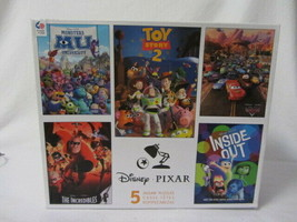 DISNEY PIXAR 5 JIGSAW PUZZLES CARS INCREDIBLES TOY STORY 2 MONSTERS INSI... - $22.99