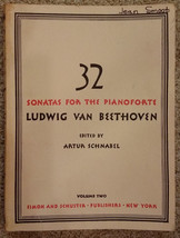 Beethoven 32 Sonatas For the Pianoforte Vol 2 Classical Sheet Music Book... - $14.98