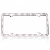 dog playground white diamond bling license plate frame usa made - $47.49