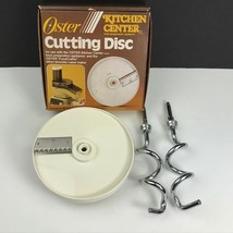 OEM Oster Kitchen Center Replacement Crinkle Cutter Disc # 937-86 + Dough Hooks - $29.98