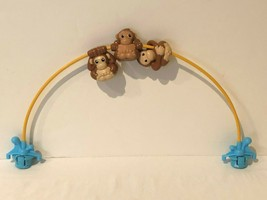 Evenflo Exersaucer Switch A Roo Zoo Friends Replacement Arch Toy Bar Monkeys - $14.99
