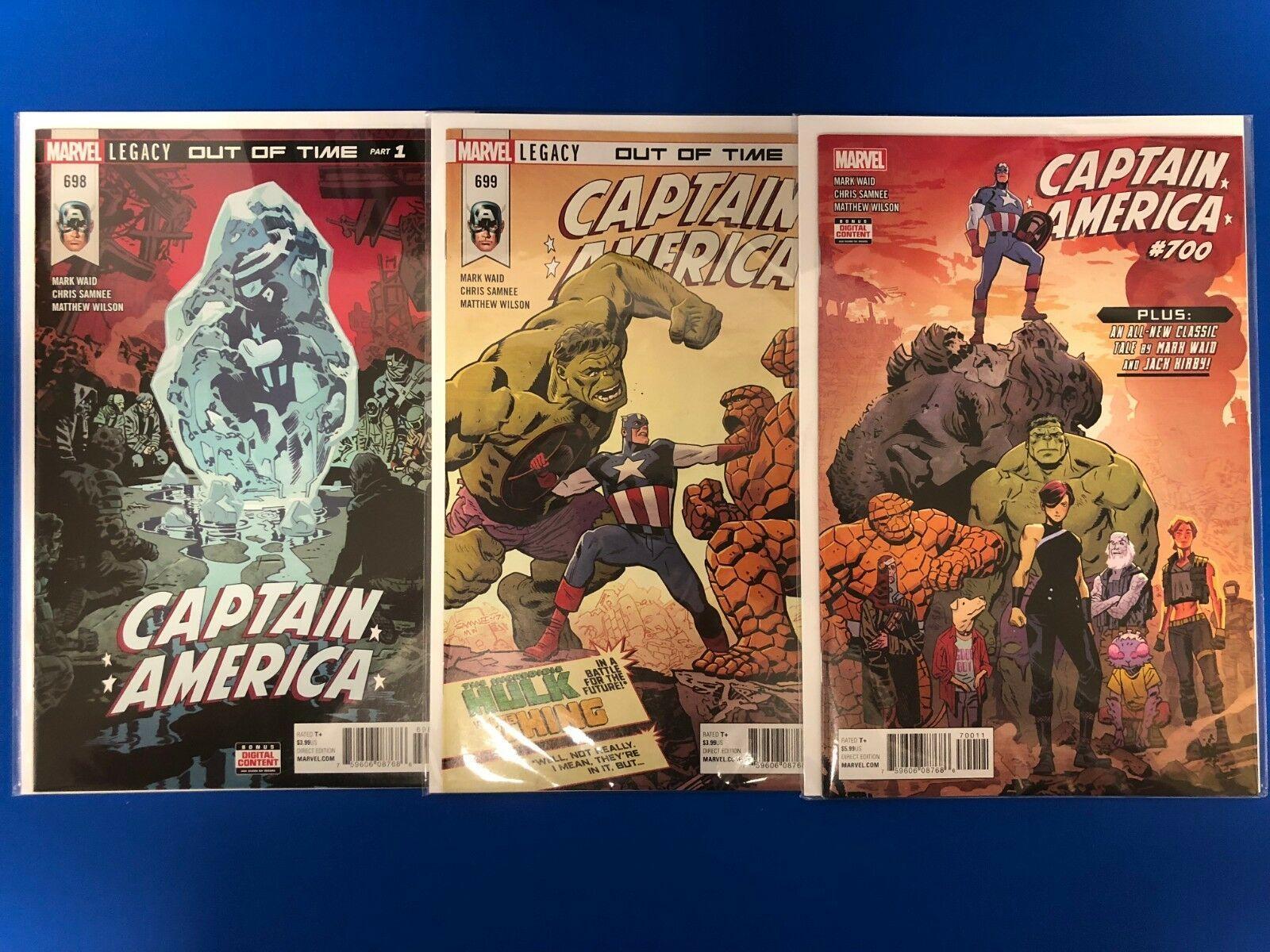 Captain America 695-700 Marvel Legacy 695 696 697 698 699 700 Waid / Samnee