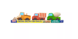 Melissa & Doug Stacking Train Classic Wooden Toddler Toy Pieces: 4 BRAND... - $19.79