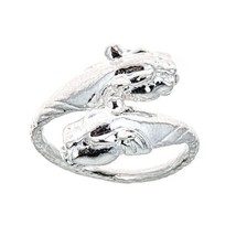 Panther Ends .925 Sterling Silver West Indian Style Ring (any size) - $25.00