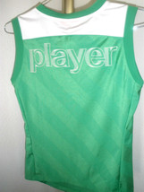 "Excellent Womens Puma Soccer Sleeveless Jersey Green/White ""Player"" on B... - $22.76"
