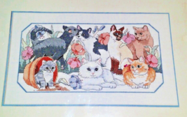 CATS KITTENS VINTAGE FROM THE HEART Counted Cross Stitch Kit PURRFECT GA... - $18.52