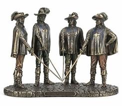 "7"" Three Musketeers Statue Sculpture d'artagnan Athos Porthos Aramis French - $67.50"