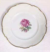 Hutschenreuther Selb Bavaria Germany Porcelain PASCO Pink Roses Salad Pl... - $7.83