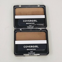 2 - Covergirl Cheekers Bronzer 104 Golden Tan Lot Of 2 New - $14.80
