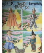 Simplicity 4024 Costume Toddler 1/2 to 4 Wizard Oz Scarcrow Tinman Dorth... - $9.95