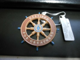 "Hallmark ""Boat Steering Wheel - Destined For Greatness"" Ornament NEW wit... - $14.80"