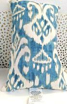 Greendale Home Fashions AZ5811S2-SEASIDE Aqua Outdoor Rectangle Throw Pillow  image 4
