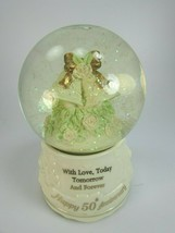 The San Francisco Music Box Company 50th Anniversary Waltz Snow Globe 30654 - $29.69