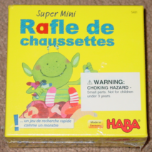SOCK REAM RAFLE DE CHAUSSETTES GAME GAME #5481 HABA NEW SEALED BOX - $10.00