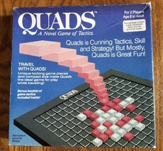 QUADS STRATEGY GAME OF TACTICS 1986 QUADS INC COMPLETE EXCELLENT - $20.00