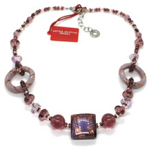 Necklace Antique Murrina,CO666A05,Circles,Squares,Spheres,Purple,Glass Murano image 2