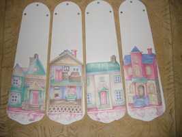 CUSTOM  VICTORIAN DOLL HOUSE ~PASTEL COLORS ...ADORABLE! CEILING FAN WIT... - $99.99