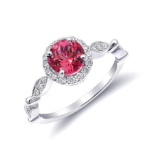 Natural Neon Tanzanian Spinel 1.10 carats set in 14K White Gold Ring - £1,078.49 GBP