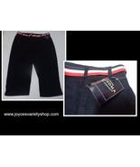 Sonoma Navy Blue Jean Capris NWT SZ 16 Red White & Blue Belt - $14.99