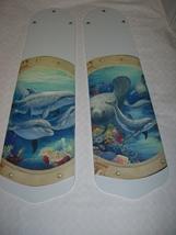CUSTOM PORTHOLE TO THE OCEAN SEA CEILING FAN w/LIGHT - $99.99