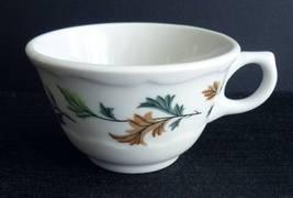 Vintage Syracuse China Cup Green Brown Oak Leaves - $4.95