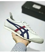Onitsuka Tiger Unisex Mexico 66 Light Grey/White/Dark Blue/Red Casual Shoe - $270.00
