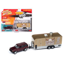 Jeep Cherokee XJ Sport Claret Red Metallic with Food Concession Trailer ... - $33.21