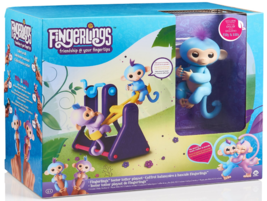 WowWee Fingerlings See-Saw Teeter Totter with 2 Baby Monkeys Milly & Willy - $19.79