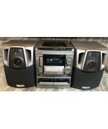 Aiwa CX-NA508 digital audio system 3 disc Am Fm dual cassette with 2 spe... - $285.88
