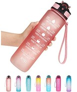 Venture Pal 32oz Motivational Fitness Sports Water Bottle with Time Mark... - $37.38+