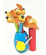 Wood Colored Pencil Holder with Pencils (Dog) - £12.26 GBP