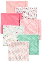 Simple Joys by Carter's Baby Girls' 7-Pack Flannel Receiving Blanket, Pi... - $17.58