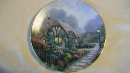 Chandler's Cottage Collectors Plate by Thomas Kinkade Garden Cottages of... - $33.41