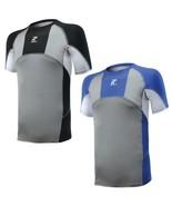 RunFlyte Mens Panel Compression Short Sleeve Moisture Wicking Shirt Yoga... - $9.95