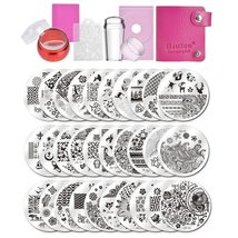 Biutee Nail Art Stamping Plates Accessories Geometry Fantastic Flower 30... - $25.00