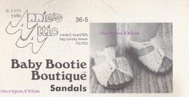 Children's Sandals, Annie's Baby Bootie Boutique Crochet Pattern Leaflet... - $2.95