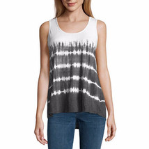 a.n.a. Women's Tye Dye Lace Back Tank Top Black Size X-LARGE New - $21.77