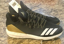 Adidas Boost Icon 4 Core Black/ Gold metal BB Cleats 11 CG5148 #adidas **NEW** - $29.58