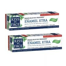 2x Kiss My Face Toothpaste Enamel Xtra Cool Mint Gel Paste 4.5 oz - DISC... - $17.81