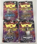Lot of 4 Racing Champions WCW Die Cast Cars 1/64 Goldberg X2 Kidman DDP ... - $34.45