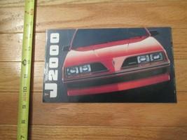 1982 Pontiac J2000 Car auto Dealer showroom Sales Brochure - $9.99